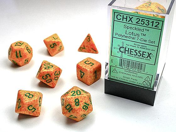 Dice Chessex Speckled 7 Die Set -  Lotus