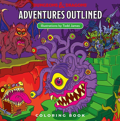 D&D Books - Adventures Outlined A Colouring Book