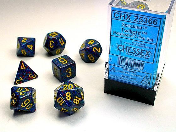 Dice Chessex Speckled 7 Die Set - Twilight