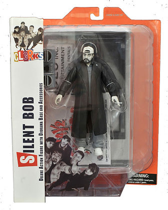 Clerks - Silent Bob - Deluxe Action Figure withe Diorama base and Accessories