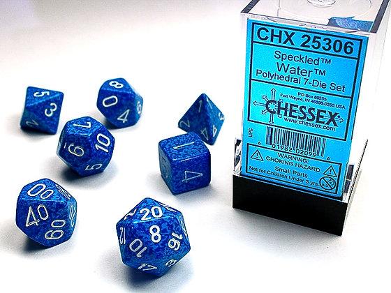 Dice Chessex Speckled 7 Die Set - Water