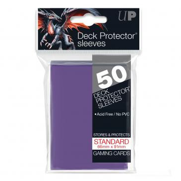 Card Sleeves Ultra Pro - 50 Deck Protector Sleeves Purple