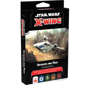 Star Wars X wing - Hotshots and Aces Reinforcements Pack