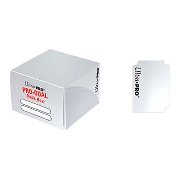 Deck Box Ultra Pro - Pro Duel Holds 180 cards White