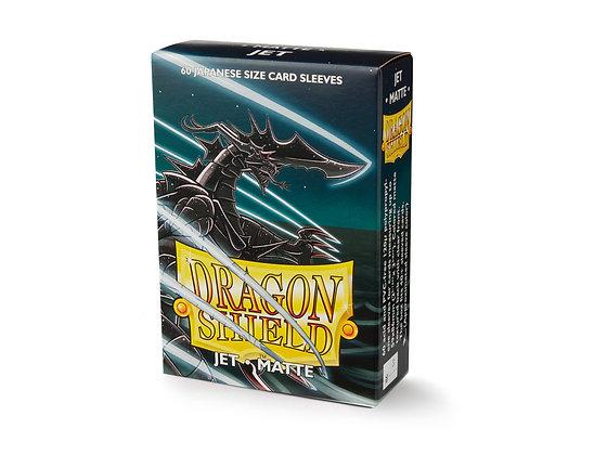 Card Sleeves Dragon Shield - 60 Classic Japanese Size Matte Jet Black