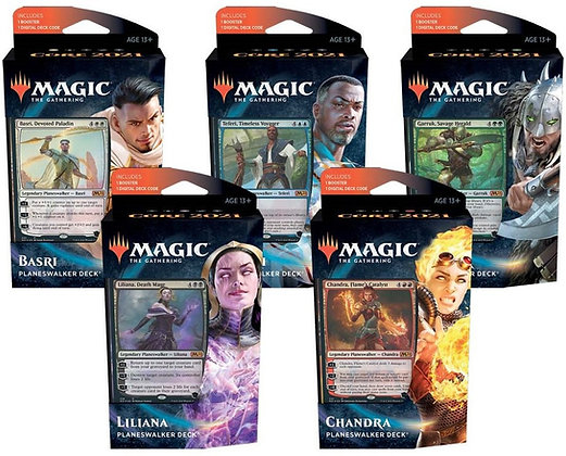 Magic the Gathering Core 2021 Planeswalker decks