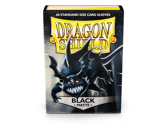 Card Sleeves Dragon Shield - 60 Standard Size Matte Black