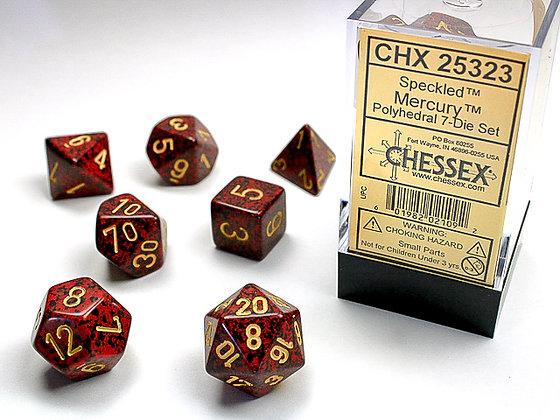 Dice Chessex Speckled 7 Die Set - Mercury
