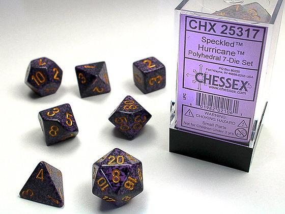 Dice Chessex Speckled 7 Die Set - Hurricane