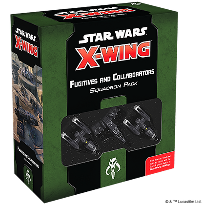 Star Wars X wing Scum and Villainy - Fugitives and Collaborators Squadron Pack