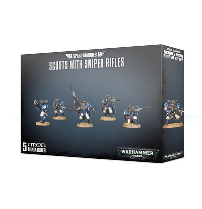 Space Marines - Scouts with sniper rifles