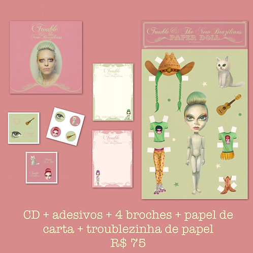 CD + Adesivos + Broche + Papel de Carta + Paper Doll