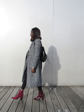How to style plaid coats