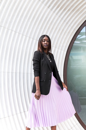 How to style a pleated skirt for work