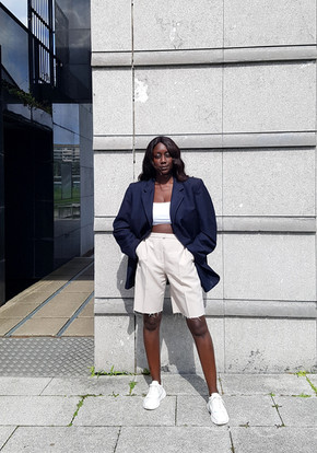 How to style Bermuda shorts - 4 thrifted outfits
