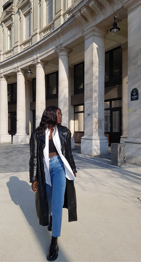Create a layered look with thrifted pieces