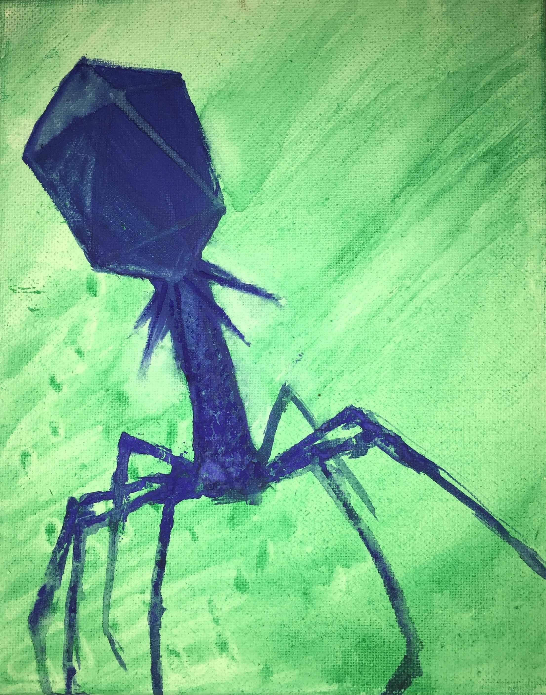 WaterColor Bacteriophage