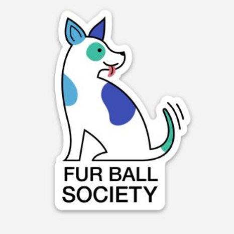 Fur Ball Sticker