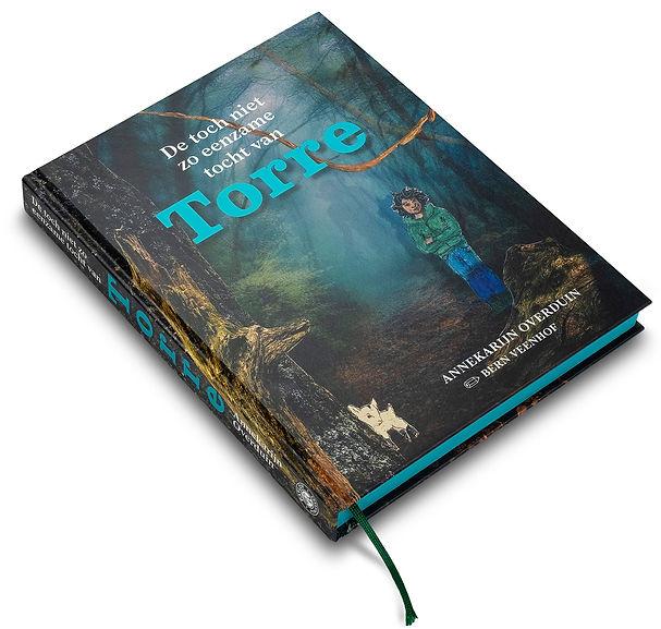 Kinderboek De tocht niet zo eenzame tocht van Torre, Kinderboek Torre, Uitgeverij Pavlov, Pavlov publiceert, auteur Annekarijn Overduin, Illustrator Bern Veenhof