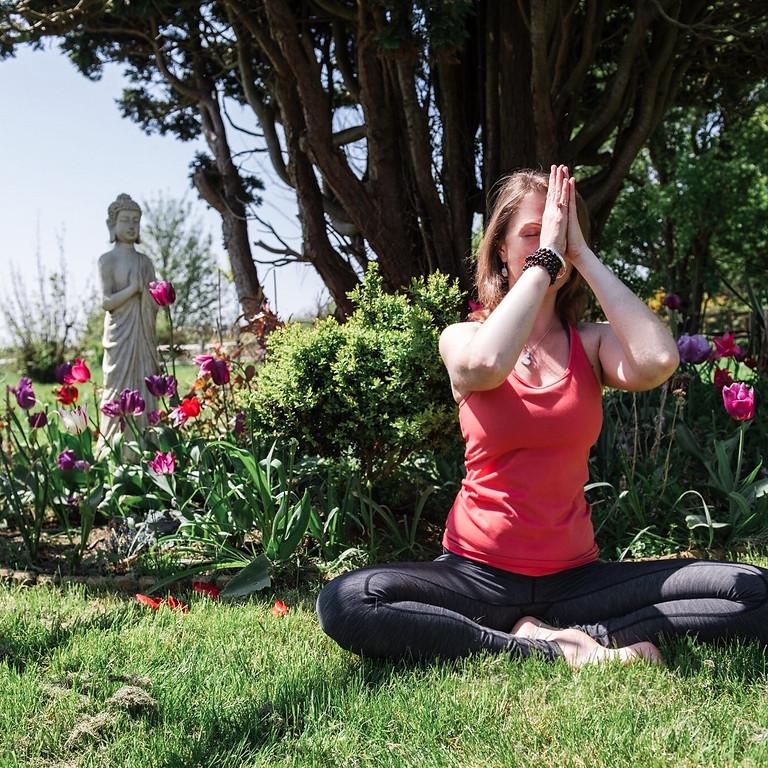 Yoga workshop at Sussex Prairies gardens