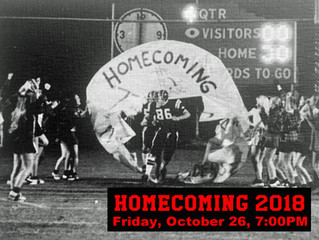"Homecoming 2018 - October 26 -  ""Ruin the Raiders!"""