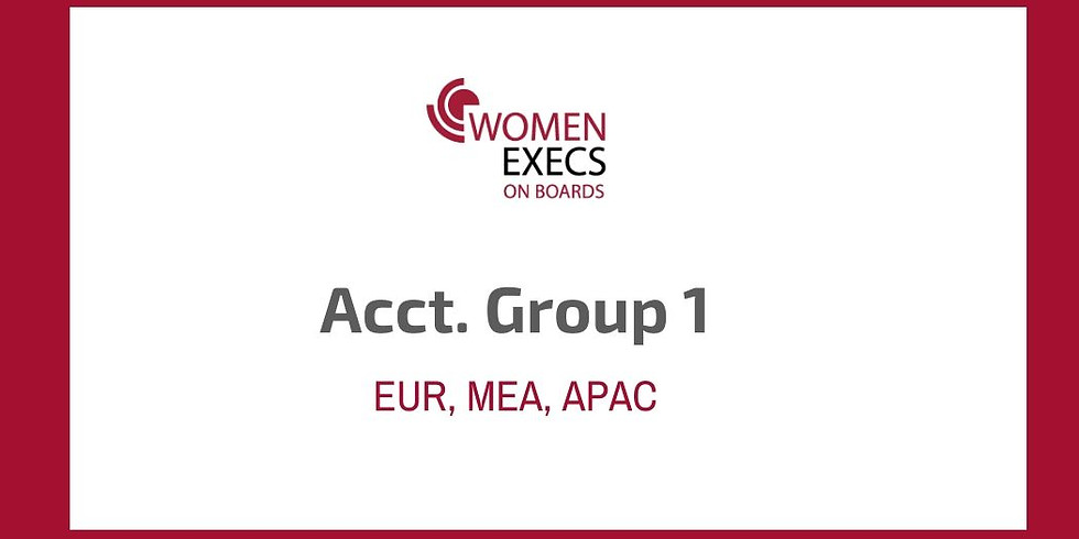 Accountability Group 1 (EUR,MEA,APAC)