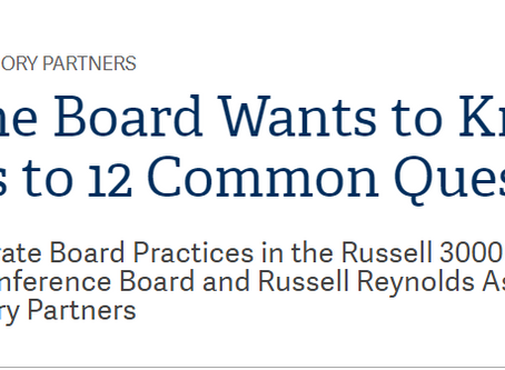 What The Board Wants to Know: Answers to 12 Common Questions
