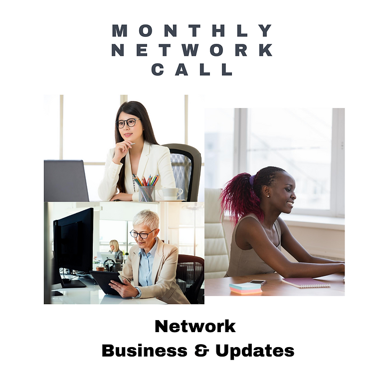 WEoB Monthly Network Call