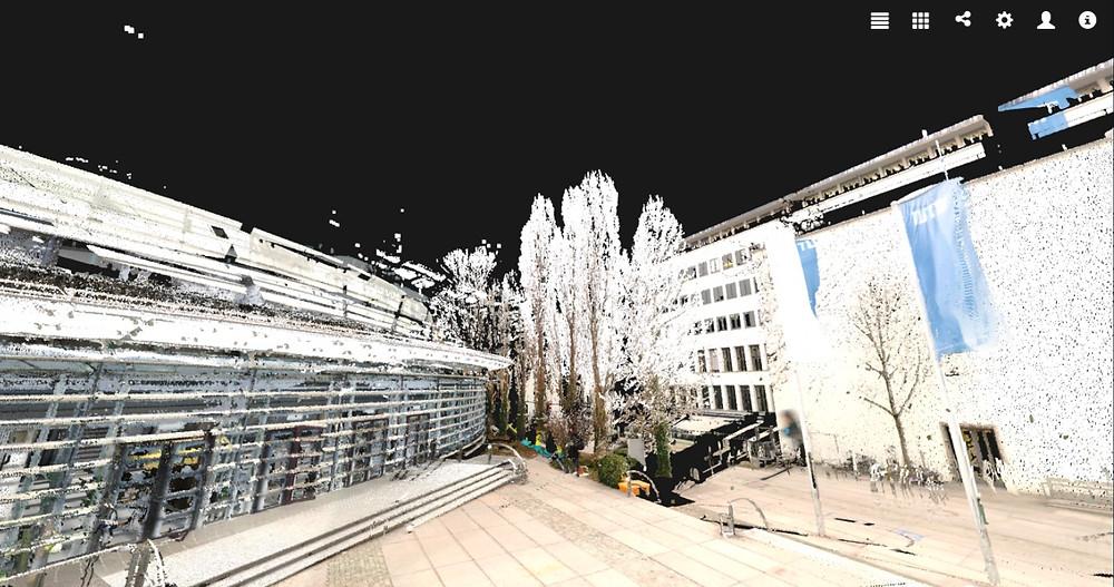 ミュンヘン工科大学の屋外点群をIVで表示