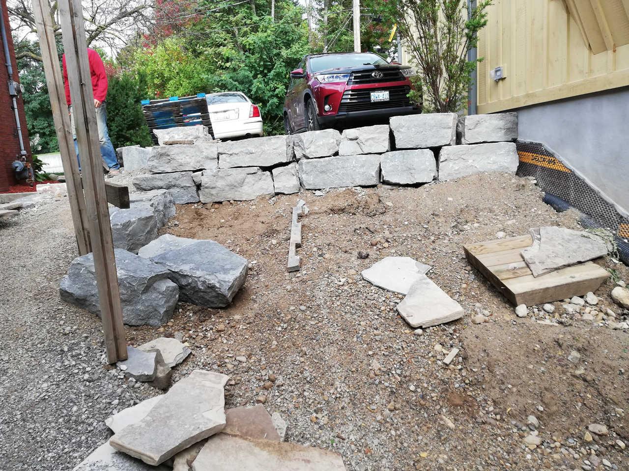 In Progress Armour Stone Wall