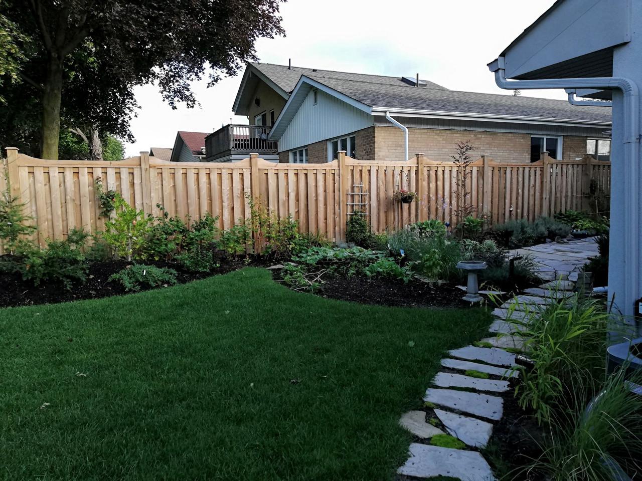 Backyard natural landscaping