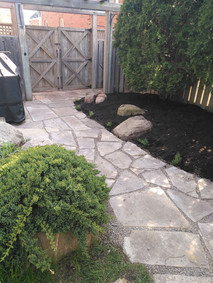 Raised Beds & Stone Path