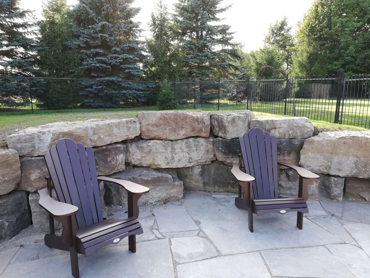 Pool Stone Deck & Wall