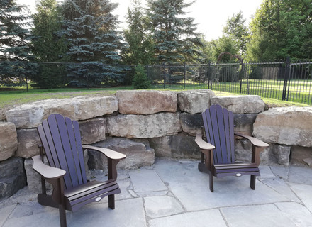 Pool Stone Deck & Wall