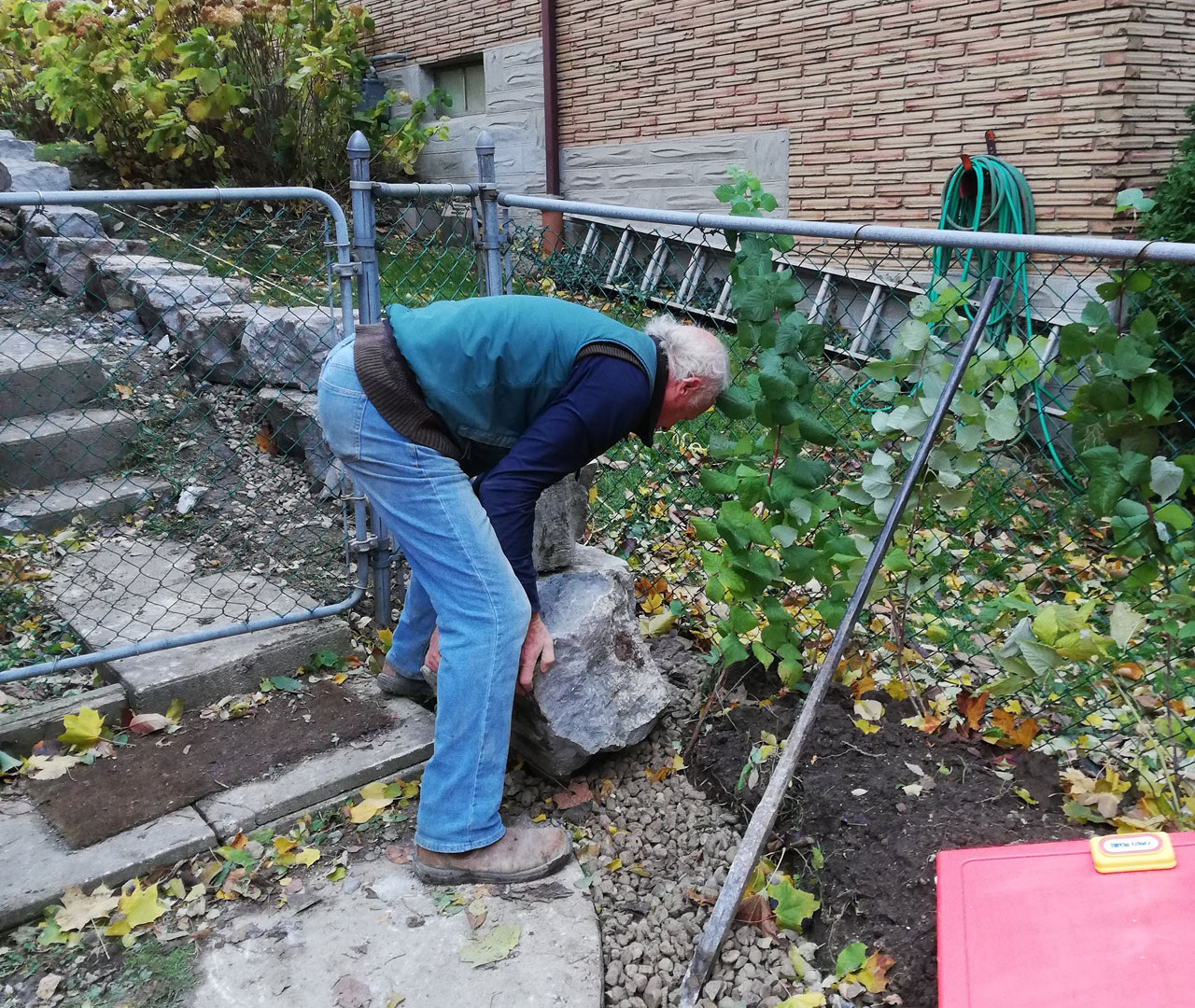 Martin moving stones in place to continu