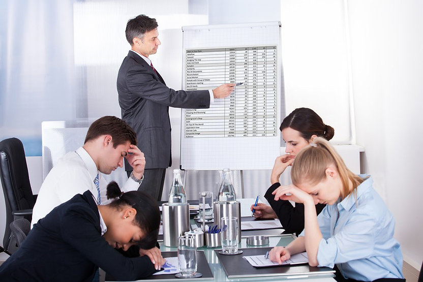 People in a meeting who are in despair of how bad it is
