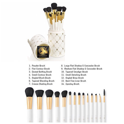Shimmering Makeup Brushes