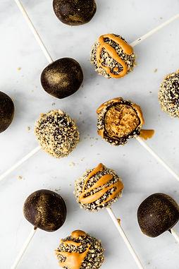 Chocolate Peanut Butter Caramel Cake Pop