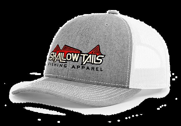 Heather Gray & White - Red Logo Hat
