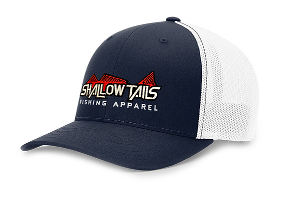 Navy & White - Red Logo Hat