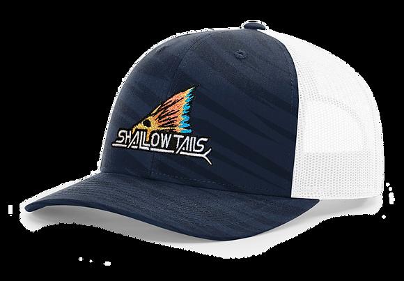 Streak Navy Camo White - Tailing Fin Hat
