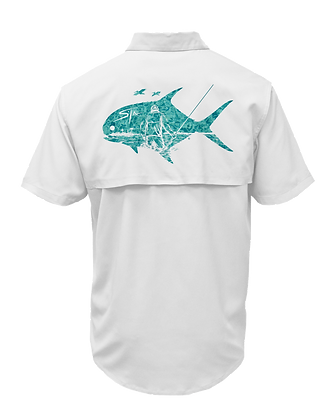 Men's Casual Button Up (Clear Water Permit)
