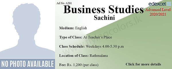 Business Studies Edexcel A/L Tuition in Ratmalana Colombo