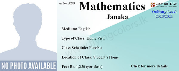 Maths Tuition Cambridge O Levels in Colo