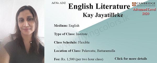 English Literature Tuition Cambridge A/L in Pelawatte, Battaramulla, Colombo