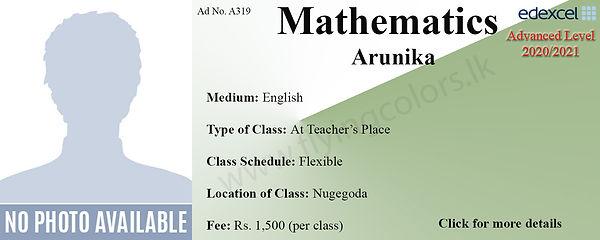 Mathematics Edexcel A/L Tuition in Nugegoda Sri Lanka