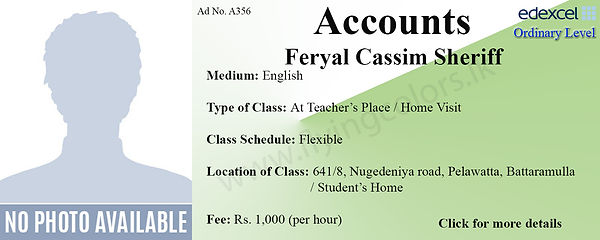 Accounts Edexcel O/L Tuition in Battaramulla Colombo Home Visit