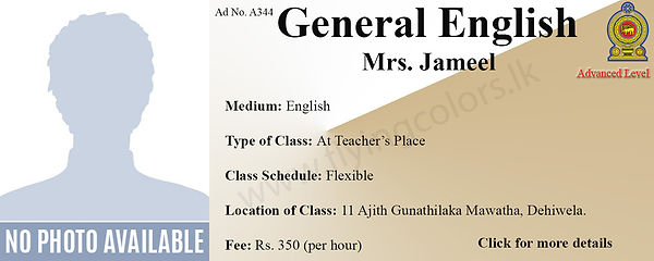 General English Tuition in Dehiwala National A/L