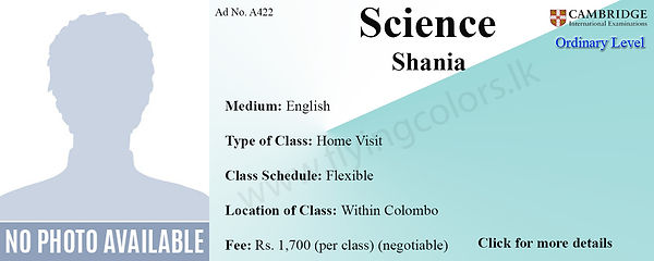 Science Cambridge O/Ls Home visit Tuition Within Colombo.