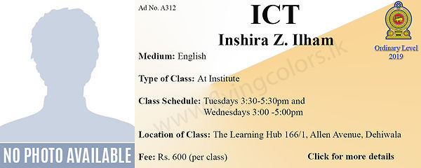 Local O/L ICT Tuition in Dehiwala